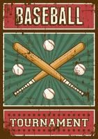 Contrassegno di retro manifesto di arte di sport di baseball