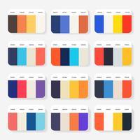 Idee della tavolozza dei colori del sito Web vettore