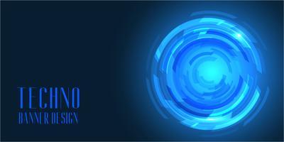 Design di banner in stile techno vettore