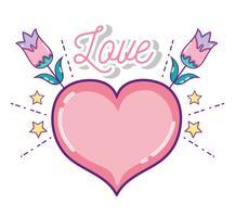 Simpatici cartoni animati d'amore vettore