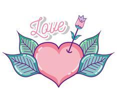 Simpatici cartoni animati d'amore