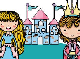 Scenario fantasy di videogiochi Pixelated