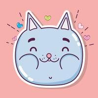 Cartone animato carino gatto vettore