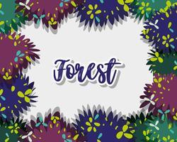 Cornice decorativa della foresta vettore