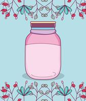 Barattolo di vetro con fiori