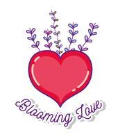 Fioriscono i cartoni animati d'amore vettore