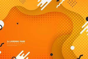 Fondo variopinto astratto della decorazione di forma di web della pagina di atterraggio. illustrazione vettoriale eps10