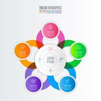 concetto di business design infografica con 5 opzioni.