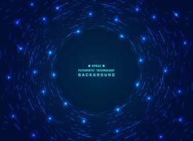 Fondo blu futuristico di tecnologia di pendenza di caos del modello geometrico. vettore