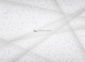 Fondo di semitono del triangolo del modello del gradiente grigio astratto di tecnologia. Decorazione per la presentazione di opere d'arte, pubblicità, poster, copertina, stampa.