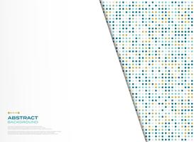 Progettazione del modello del quadrato di nuova tecnologia di vettore astratto con fondo bianco. illustrazione vettoriale eps10
