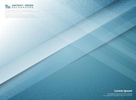 Copertura astratta di progettazione del taglio della carta del modello di tecnologia di colore di pendenza blu. illustrazione vettoriale eps10