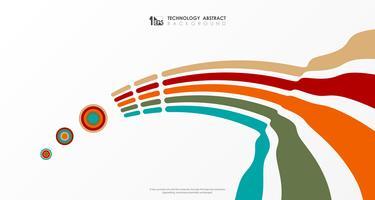 Linea moderna fondo variopinto astratto della banda di affari della copertura di progettazione di progettazione del modello. illustrazione vettoriale eps10