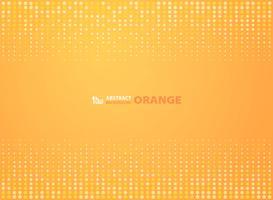 Astratto colore arancione sfumato con cerchi mezzitoni design sfondo. illustrazione vettoriale eps10
