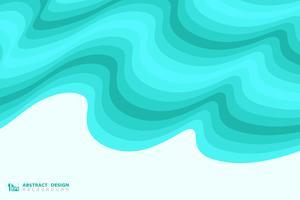 Fondo ondulato blu astratto della decorazione di progettazione del modello del mare. illustrazione vettoriale eps10