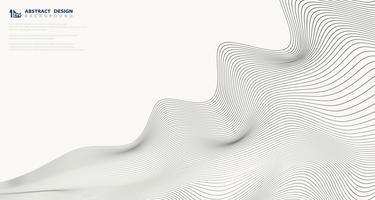 Disegno astratto modello di linea ondulata per sfondo di presentazione di copertina. illustrazione vettoriale eps10