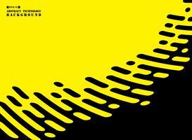 Linea di strisce astratte di nero su sfondo giallo. vettore