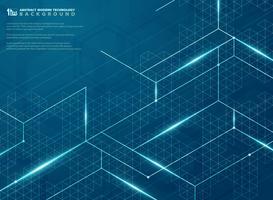 Futuristico moderno della linea struttura blu fondo di progettazione del modello di energia. illustrazione vettoriale eps10