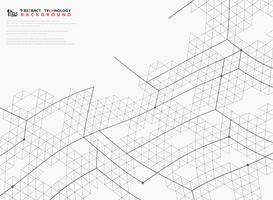 Fondo astratto della copertura della decorazione di progettazione di tecnologia della struttura delle linee di esagono della maglia. illustrazione vettoriale eps10