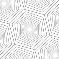 Progettazione moderna del modello geometrico alto vicino di esagono dell'estratto.