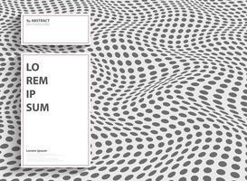 Punto astratto moderno del disegno della copertura della maglia con lo spazio bianco della copia di testo. È possibile utilizzare per la progettazione di copertine, annunci, presentazioni, relazioni annuali.