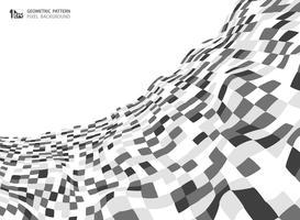 Modello quadrato astratto di colore grigio della progettazione del fondo della copertura della maglia. È possibile utilizzare per la stampa, pubblicità, design della copertina, relazione annuale. vettore