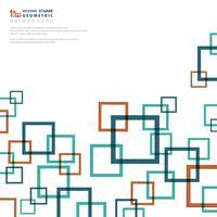 Il quadrato astratto di affari del fondo colora geometrico. vettore