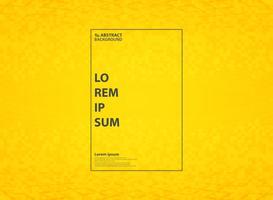 Fondo moderno giallo vivo astratto del modello con la decorazione geometrica di stile. È possibile utilizzare per la progettazione della tecnologia di annunci, poster, progettazione di decorazione, relazione annuale, opere d'arte. vettore