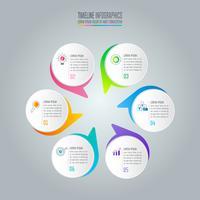 concetto di business design infografica con 6 opzioni.