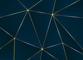 Modello astratto pentagonale con motivo di lusso linea dorata.
