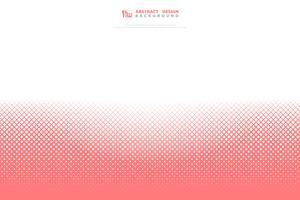 Fondo geometrico del modello del quadrato di corallo vivente rosa astratto di colore. illustrazione vettoriale eps10