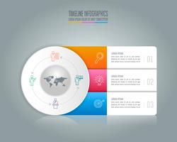 concetto di business design infografica con 3 opzioni. vettore