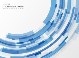 Linea geometrica della banda blu di tecnologia astratta fondo.