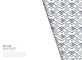 Strato di copertura astratto della priorità bassa geometrica del quadrato del reticolo della riga blu della banda. vettore