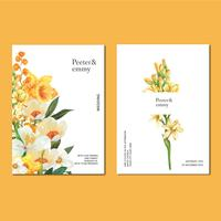 Scheda dell'invito di primavera con acero floreale e foglie. freschezza botanica, ringrazia la carta, progettazione dell'illustrazione di vettore dell'acquerello del fiore di giorno della madre