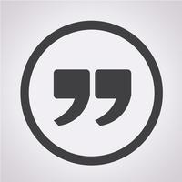 Icona del segno di citazione, virgolette