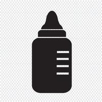 icona di bottiglia di latte per bambini vettore