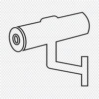 Icona Cctv, cctv, icona di sicurezza, telecamera a circuito chiuso vettore