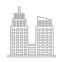 Icona di edificio per uffici vettore