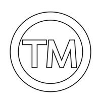 Icona del simbolo del marchio vettore