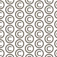 Icona di simbolo del copyright del fondo del modello