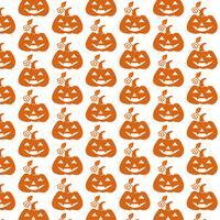 Pattern background Icona di zucca di Halloween