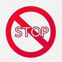 Icona del segnale di stop vettore