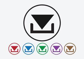 Scarica icona e carica il pulsante simbolo vettore