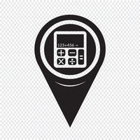 Icona del calcolatore di puntatore della mappa