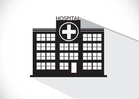 Progettazione dell'icona della costruzione dell'ospedale nell'illustrazione vettore