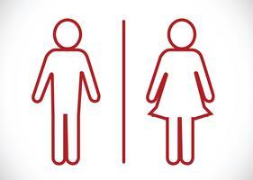 Icona della toilette e pittogramma Uomo donna segno