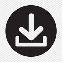 Icona di download Pulsante di caricamento vettore