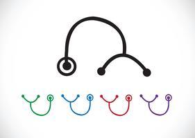 icone di stetoscopio Simbolo Segno vettore