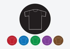 Camicia di abbigliamento e icone di abbigliamento icona t-shirt vettore